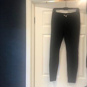 Joie black legging pant with faux leather strip